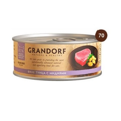 Grandorf Fillet of Tuna with Mussels 70 гр