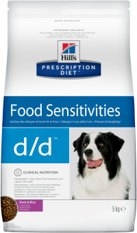 Hill's Prescription Diet (5 кг) D/D Canine Skin Support Duck & Rice dry