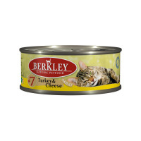 Berkley Adult Cat Turkey & Сheese № 7 100 гр х 6 шт