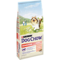 Purina Dog Chow Sensitive для собак с чувствительным пищеварением с лососем - 14 кг
