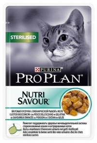 Purina Pro Plan (0.085 кг) 1 шт. NutriSavour Sterilised feline with Ocean Fish in jelly