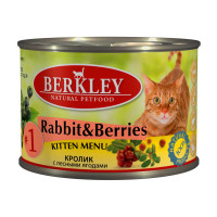 Berkley Kitten Menu Rabbit & Berries № 1 200 гр х 6 шт