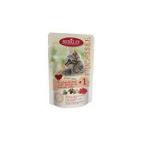 Berkley Fricassee Kitten Menu Chicken & Veal with Berries in natural Jelly № 1 100 гр х 6 шт