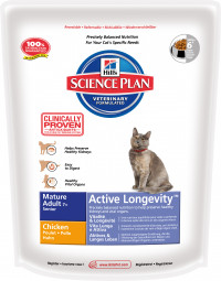 Hill's (0.3 кг) Science Plan Feline Mature Adult 7+ Active Longevity Chicken