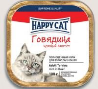 Happy Cat говядина 100 гр х 32 шт