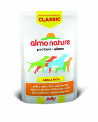 Almo Nature Classic Adult Dog Chicken & Carrots Jelly 70 гр х 24 шт