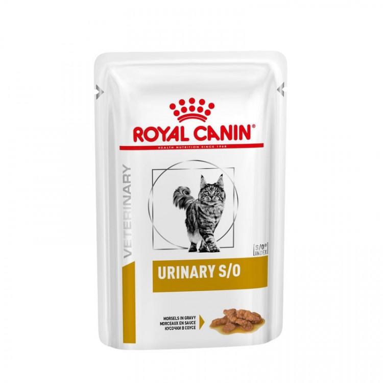 Влажный диетический корм Royal Canin Urinary S/O кусочки в соусе для взрослых кошек при МКБ с курицей - 85 г