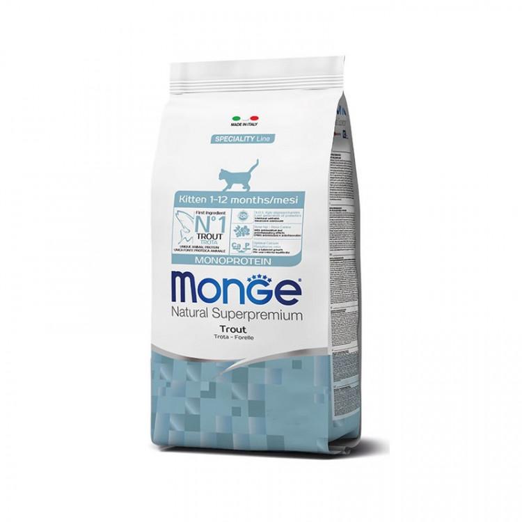 Monge Kitten Monoprotein сухой корм для котят с форелью - 400 г