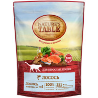Nature's Table сухой корм для кошек с лососем - 650 г