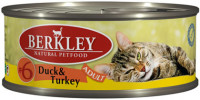 Berkley Adult Cat Duck & Turkey № 6 100 гр х 6 шт