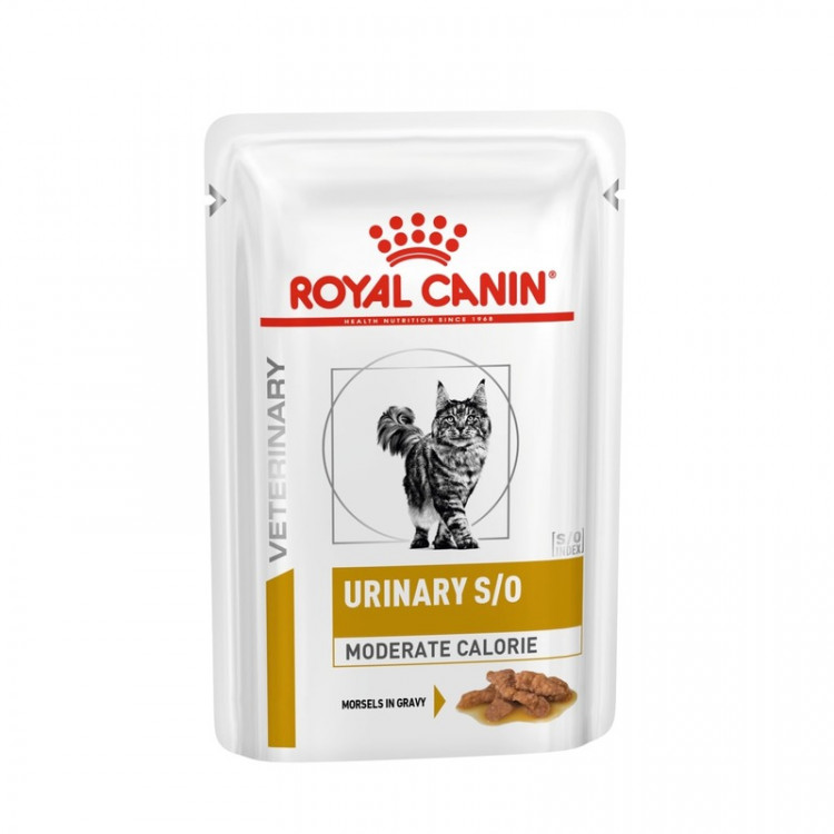 Влажный диетический корм Royal Canin Urinary S/O Moderate Calorie кусочки в соусе для взрослых кошек при МКБ и ожирении - 85 г